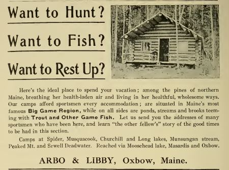 In the Maine Woods Arbo & Libby 1908